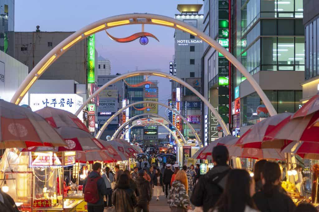 Busan International Film Festival in Nampodong, Busan, South Korea