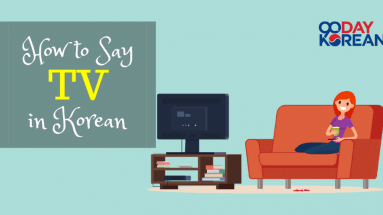 illustration of young woman smiling and watching tv, image for 90daykorean