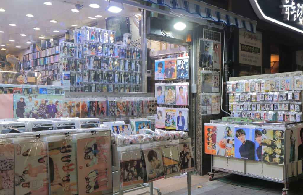 K-Pop Idol Shop in Seoul, South Korea