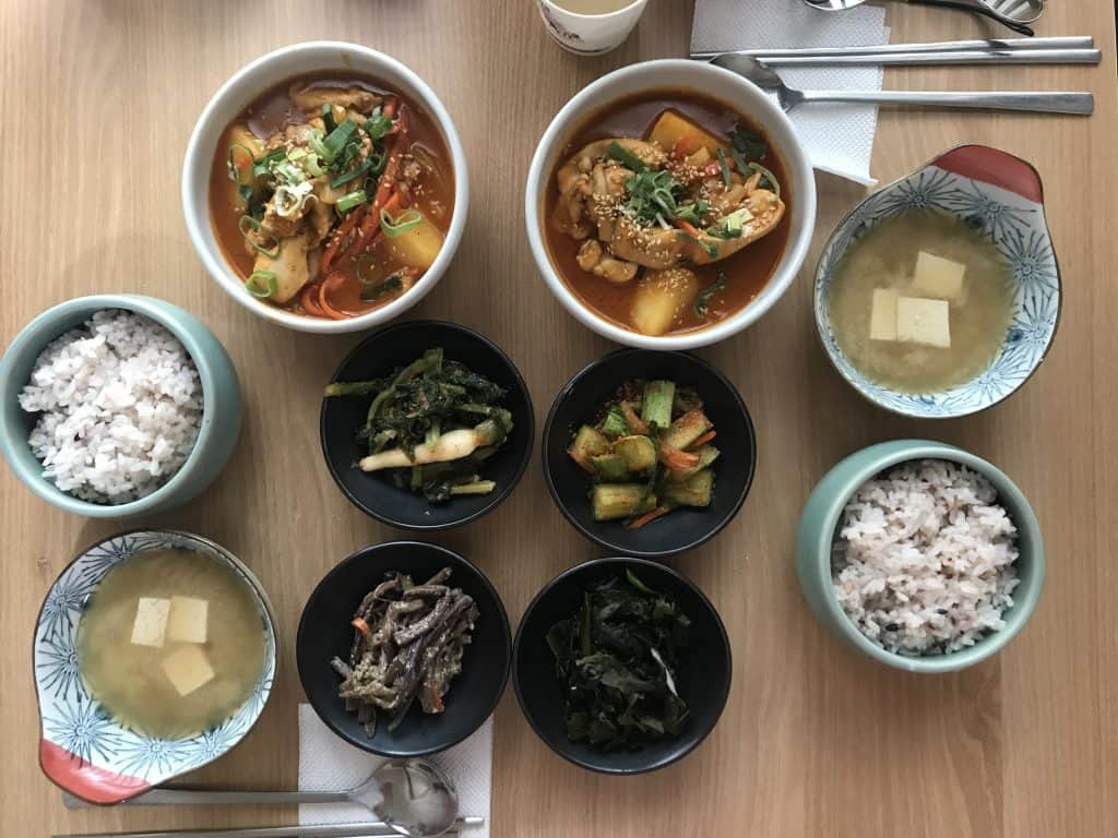 Hanjeongsik meal in Seoul, south Korea