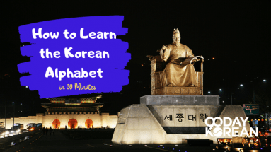 King Sejong Statue in downtown Seoul at night with palace in background