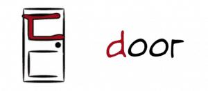 The association for the digeut in Korean is door
