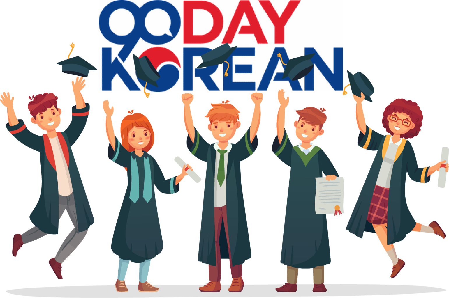 90daykorean-five-Students-Graduation