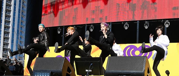 Monster X performing in Las Vegas