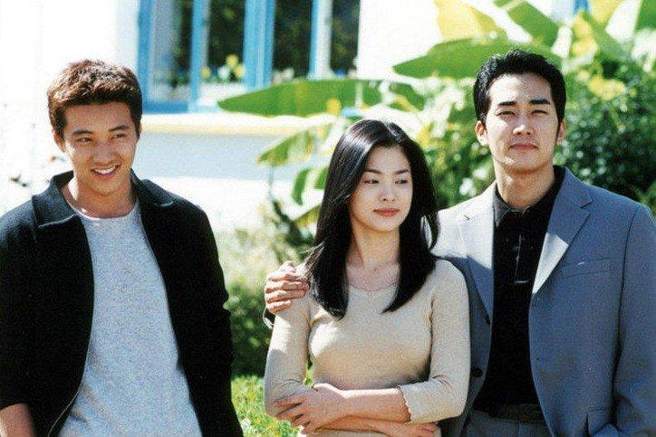 Korean actors and actress standing